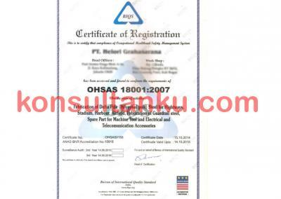 Sertifikat OHSAS